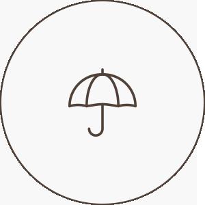 雨の日傘無料提供アイコン